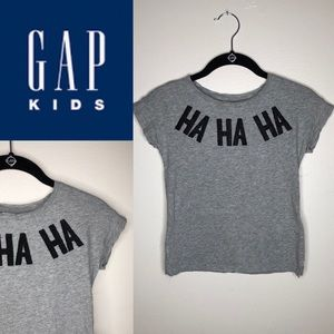 Gap Kids Beaded HA HA HA Short Sleeve T-Shirt